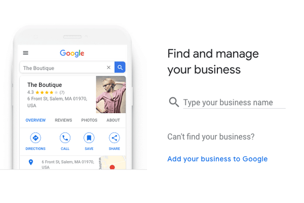 Google My Business Step 1
