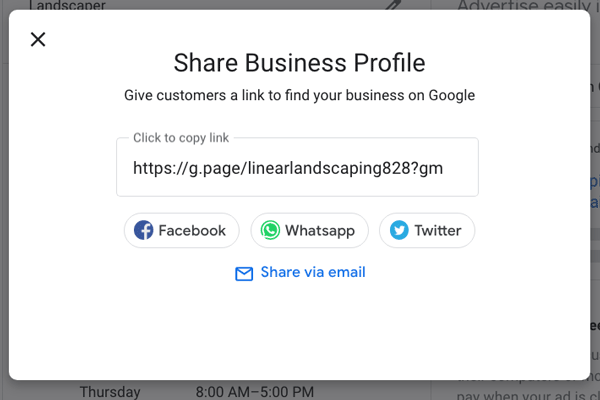 Google My Business Step Short Name Filled