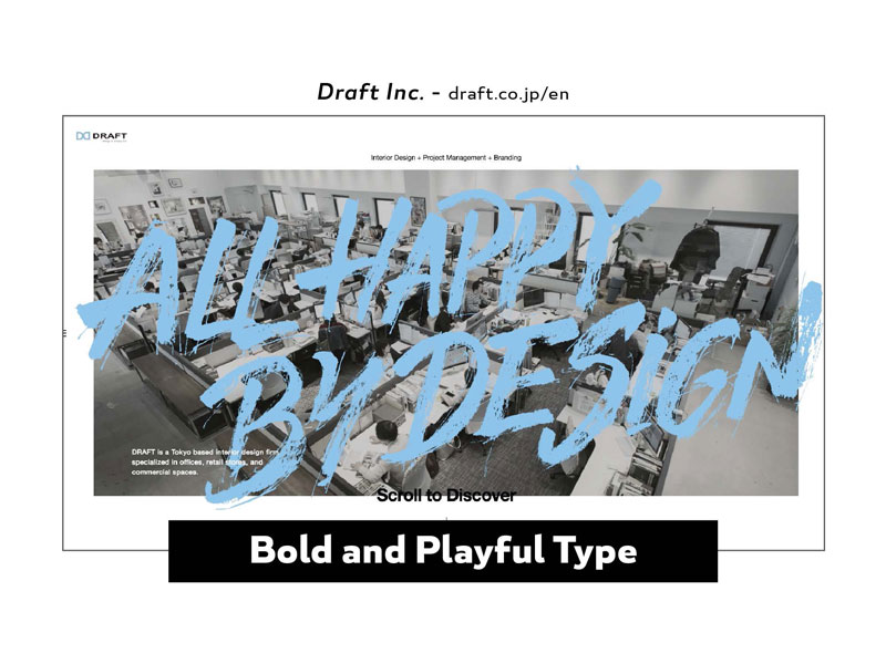 2016 Design Trends - Bold and PLayful Type