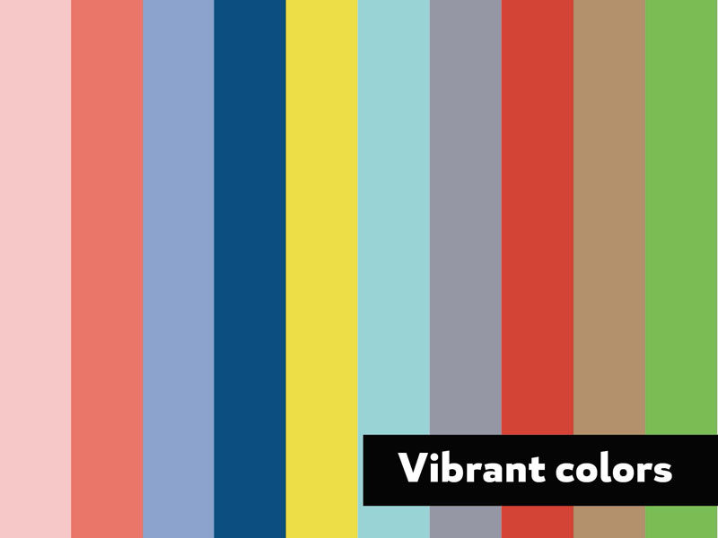 2016 Design Trends - Vibrant Colors