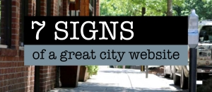 signs of a great city websites