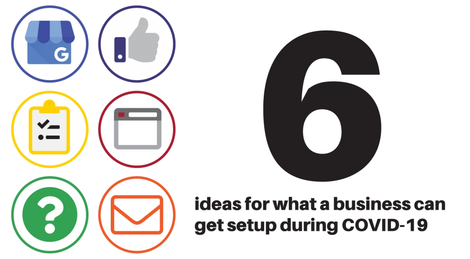 Six ideas for what a business can get set up during COVID-19